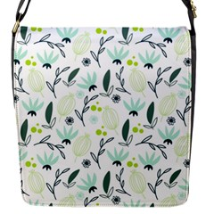 Hand Drawm Seamless Floral Pattern Flap Messenger Bag (s) by TastefulDesigns