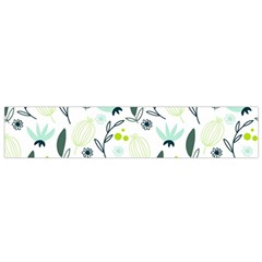 Hand Drawm Seamless Floral Pattern Flano Scarf (small) by TastefulDesigns
