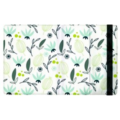 Hand Drawm Seamless Floral Pattern Apple Ipad Pro 12 9   Flip Case
