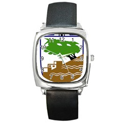 Coat Of Arms Of Holon  Square Metal Watch by abbeyz71