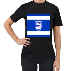 Flag Of Holon  Women s T Shirt (black) (two Sided) by abbeyz71