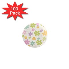 Beautiful Spring Flowers Background 1  Mini Magnets (100 Pack)  by TastefulDesigns