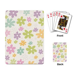 Beautiful Spring Flowers Background Playing Card by TastefulDesigns
