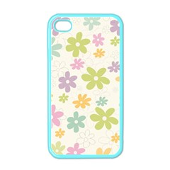 Beautiful Spring Flowers Background Apple Iphone 4 Case (color) by TastefulDesigns