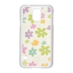 Beautiful Spring Flowers Background Samsung Galaxy S5 Case (white) by TastefulDesigns