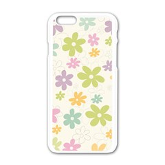 Beautiful Spring Flowers Background Apple Iphone 6/6s White Enamel Case by TastefulDesigns