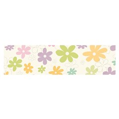Beautiful Spring Flowers Background Satin Scarf (oblong) by TastefulDesigns