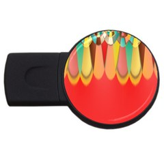 Colors On Red Usb Flash Drive Round (4 Gb) by linceazul