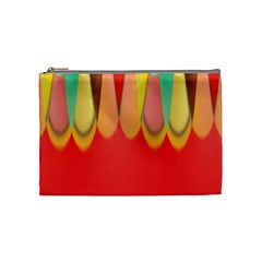Colors On Red Cosmetic Bag (medium)  by linceazul