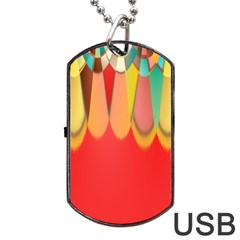 Colors On Red Dog Tag Usb Flash (two Sides) by linceazul