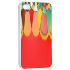 Colors On Red Apple Iphone 4/4s Seamless Case (white) by linceazul