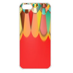 Colors On Red Apple Iphone 5 Seamless Case (white) by linceazul