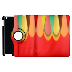 Colors On Red Apple Ipad 2 Flip 360 Case by linceazul