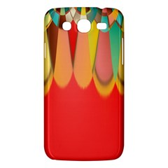 Colors On Red Samsung Galaxy Mega 5 8 I9152 Hardshell Case  by linceazul