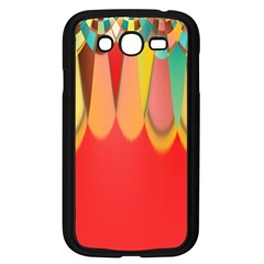 Colors On Red Samsung Galaxy Grand Duos I9082 Case (black) by linceazul
