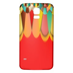 Colors On Red Samsung Galaxy S5 Back Case (white) by linceazul