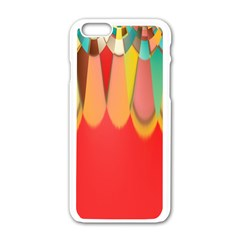 Colors On Red Apple Iphone 6/6s White Enamel Case by linceazul