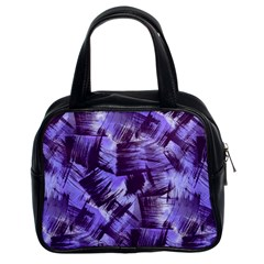 Purple Paint Strokes Classic Handbags (2 Sides) by KirstenStar