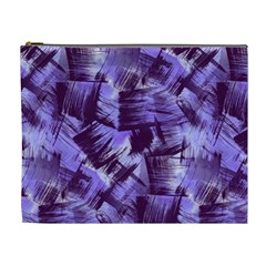 Purple Paint Strokes Cosmetic Bag (xl) by KirstenStar