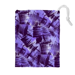 Purple Paint Strokes Drawstring Pouches (extra Large) by KirstenStar