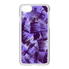 Purple Paint Strokes Apple Iphone 7 Seamless Case (white) by KirstenStar