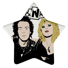 Sid And Nancy Ornament (star) by Valentinaart