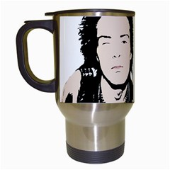 Sid And Nancy Travel Mugs (white) by Valentinaart