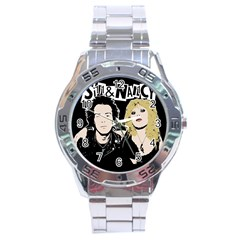 Sid And Nancy Stainless Steel Analogue Watch by Valentinaart
