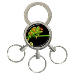 Chameleons 3 Ring Key Chains by Valentinaart