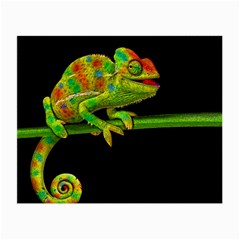 Chameleons Small Glasses Cloth by Valentinaart