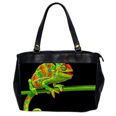 Chameleons Office Handbags (2 Sides)  by Valentinaart