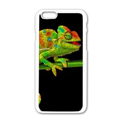 Chameleons Apple Iphone 6/6s White Enamel Case by Valentinaart