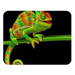 Chameleons Double Sided Flano Blanket (large)  by Valentinaart