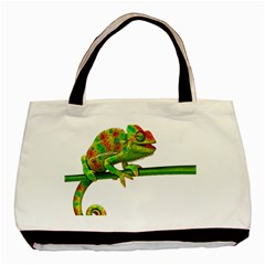 Chameleons Basic Tote Bag (two Sides) by Valentinaart