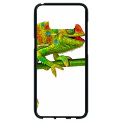 Chameleons Samsung Galaxy S8 Black Seamless Case by Valentinaart