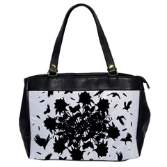 Black Roses And Ravens  Office Handbags by Valentinaart