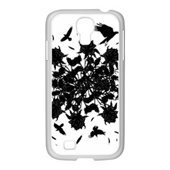 Black Roses And Ravens  Samsung Galaxy S4 I9500/ I9505 Case (white) by Valentinaart