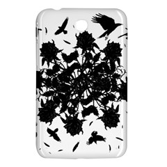 Black Roses And Ravens  Samsung Galaxy Tab 3 (7 ) P3200 Hardshell Case  by Valentinaart