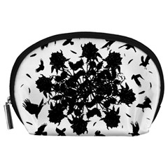 Black Roses And Ravens  Accessory Pouches (large)