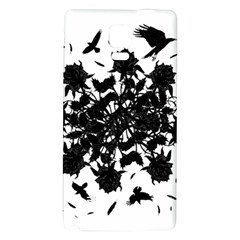 Black Roses And Ravens  Galaxy Note 4 Back Case by Valentinaart