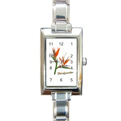 Bird Of Paradise Rectangle Italian Charm Watch by Valentinaart