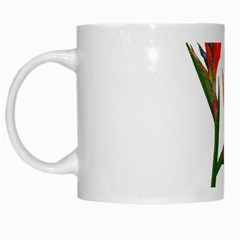 Bird Of Paradise White Mugs by Valentinaart