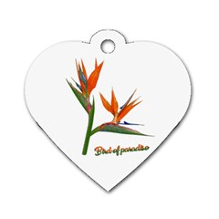 Bird Of Paradise Dog Tag Heart (two Sides) by Valentinaart