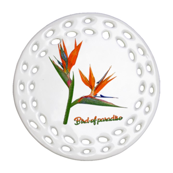 Bird Of Paradise Round Filigree Ornament (Two Sides)