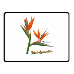 Bird Of Paradise Double Sided Fleece Blanket (small)  by Valentinaart