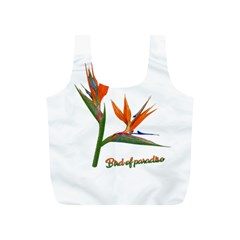 Bird Of Paradise Full Print Recycle Bags (s)  by Valentinaart