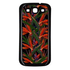 Bird Of Paradise Samsung Galaxy S3 Back Case (black) by Valentinaart