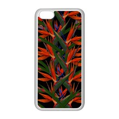 Bird Of Paradise Apple Iphone 5c Seamless Case (white) by Valentinaart