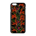 Bird Of Paradise Apple iPhone 6/6S Black Enamel Case Front
