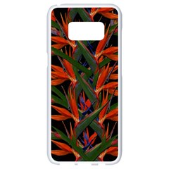 Bird Of Paradise Samsung Galaxy S8 White Seamless Case by Valentinaart